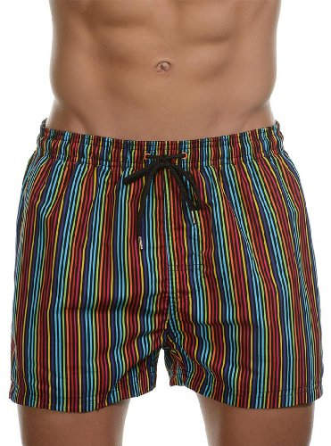 Bruno Banani Short de bain pour homme Multicoloured - Mehrfarbig (multicolour stripes 486)