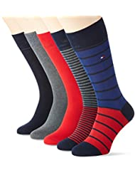 Tommy Hilfiger Th Men Stripe Box 5p, Chaussettes Homme, (lot de 5