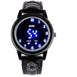 ufengke® elegant led light wrist watch for men, strap waterproof luminous gift watch,black