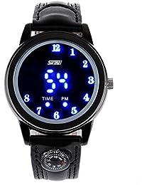 ufengke® elegante led-licht handgelenk armbanduhren für männer, band 30 m wasserdicht leucht geschenk armbanduhren,schwarz