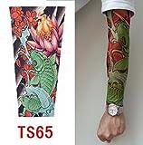 zivilverwalter hochwertiges Old School Stil temporäre Fake Rutschen auf Tattoo Arm Sleeve TS60neuen Farben