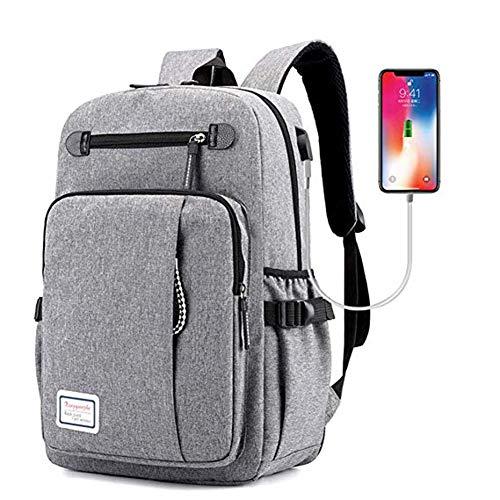 XDD Reise-Laptop-Rucksack, Business-Laptops-Rucksack mit USB-Ladeanschluss, für Frauen & Männer passt 15,6 Zoll Laptop und Notebook (Schule Bindemittel Für College)