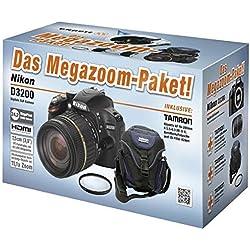 Nikon D3200+ TAMRON 18–200mm Kit de caméra SLR 24,2MP CMOS 6016x 4000pixels Noir–Appareil photo numérique (24,2MP, 6016x 4000pixels, CMOS, Full HD, 455g, noir)