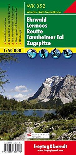 Carte de randonnée : Ehrwald, Lermoos, Reutte, Tannheimer Tal par Cartes Freytag