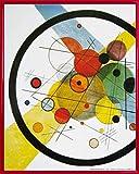Vassily Kandinsky Poster Reproduction et Cadre (Plastique) - Cercles dans Un Cercle, 1923 (50 x 40cm)