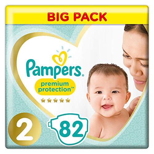 Pampers Premium Protection Windel x82, 4kg-8kg, Größe 2