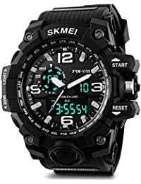 SKMEI Analog-Digital Black Dial Men's Watch-AD1155 (BK White)