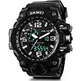 #2: SKMEI Analog-Digital Black Dial Men's Watch-AD1155 (BK White)