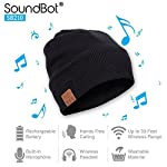 SoundBot® SB210 Stereo Bluetooth 4.1 Wireless Musical Headset Beanie for Music Streaming & Hands-Free Calling w/ 5hrs Music Playback, 8Hrs Talk Time, 60Hrs Standby Time Feature - SB210 musical headset beanie is thick, soft, and large enough to we...