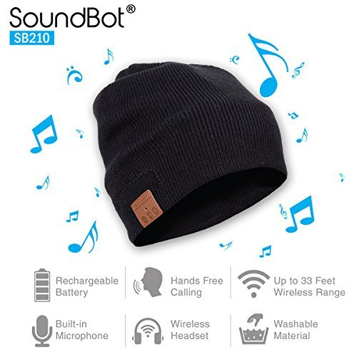 SoundBot SB210 HD Stereo Bluetooth 4.1 Gorro wireless
