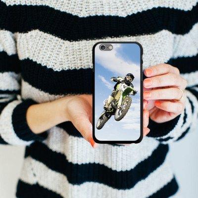 Apple iPhone 5s Housse Étui Protection Coque Motocross Moto Sport mécanique CasDur noir