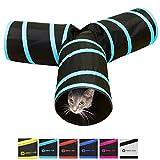 Purrfect Feline tunnel of Fun, pieghevole a vie Cat tunnel giocattolo con piega, Medium, Scarpette a strappo Voltaic 3 Velcro Fade - Bambini
