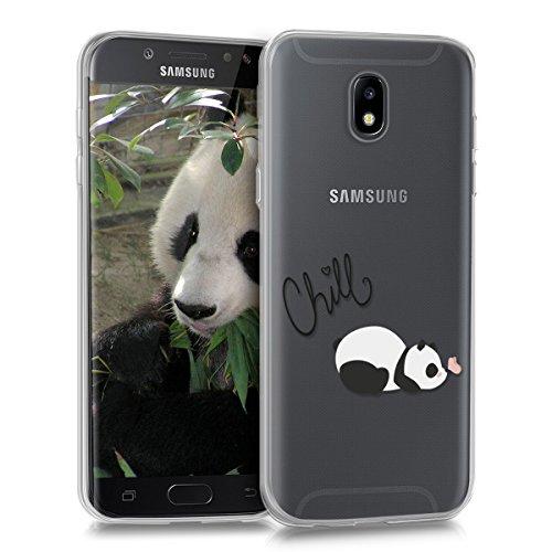 kwmobile Samsung Galaxy J5 (2017) DUOS Hülle - Handyhülle für Samsung Galaxy J5 (2017) DUOS - Handy Case in Schwarz Weiß Transparent