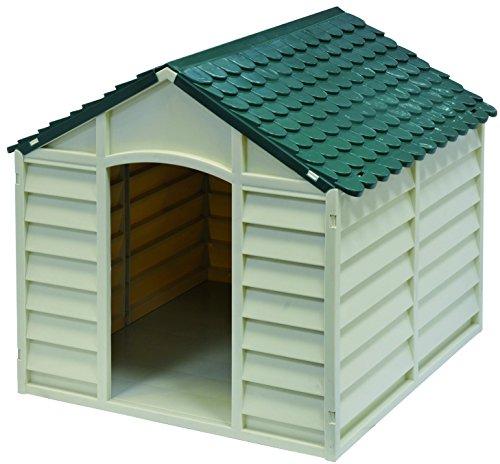 GARDIUN KIG50701 Caseta para Perros, Blanco Y Verde, 86x84x82 cm