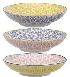TOKYO design studio, Star Wave, 3 PastaTeller Set , 3-tlg., Ø 21 cm, Porzellan aus Japan