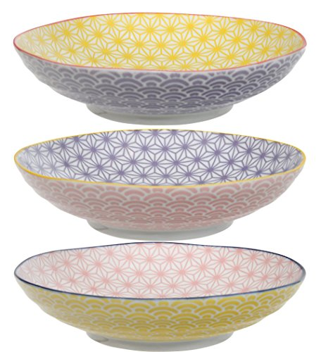 Tokyo Design Studio, Assortiment de 3 caissiers de pates en porcelaine japonaise, 21 cm