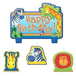 Jungle Animals Birthday Candle Set