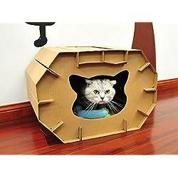 Casa gatos cartón