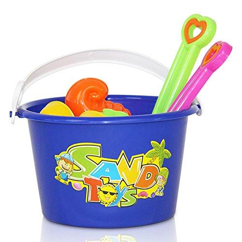 HC-Handel 916447 Sandspielzeug Strandspielzeug Förmchen Eimer Schaufel Sandkastenspielzeug 7-teilig