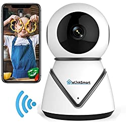 eLinkSmart WiFi IP Camera Security Camera Pan Tilt Zoom Indoor Surveillance Camera with 720P HD Night Vision Motion Detection Two-Way Audio Support Active Call