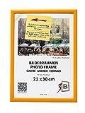 3-B Bilderrahmen ULM 21x30 cm - gelb - Holzrahmen, Fotorahmen, Portraitrahmen mit Plexiglas
