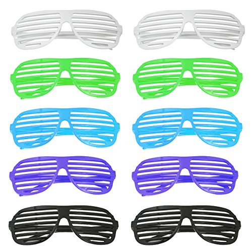 Okeyn 10 x Partybrille Atzenbrille Party Brille Atzen Brille (Brille Männer Rezept)