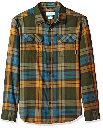 Columbia Men's Flare Gun Flannel Iii Long Sleeve Shirt, Canyon Gold Blanket Plaid, Small (Shirt Canyon Plaid)