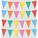 1005,84 cm largo Multicolor plástico PVC 20 banderines de cartel para fiesta con Diseño de banderas de países banderín de doble cara para interiores y exteriores decorativa