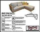RHS270210 rechts Abdeckung für Lounge Eckset, passt am besten am Set von max. 265 x 205 cm.