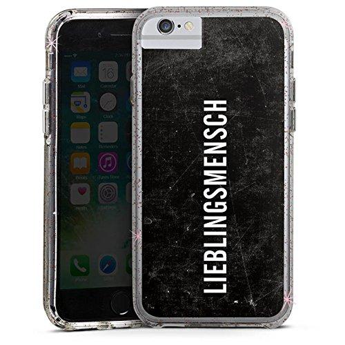 Apple iPhone 7 Bumper Hülle Bumper Case Glitzer Hülle Freundschaft Friendship Lieblingsmensch Bumper Case Glitzer rose gold