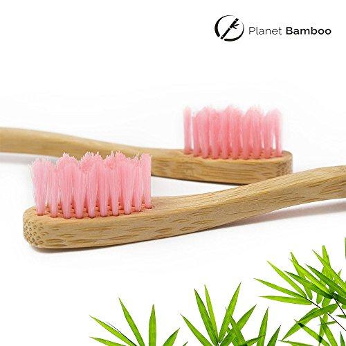Planet Bamboo Bambus Zahnbürste für Kinder (4 Stück) - 8