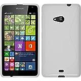 Funda de silicona para Microsoft Lumia 535 - S-Style blanco - Cover PhoneNatic Cubierta + protector de pantalla