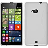 PhoneNatic Case für Microsoft Lumia 535 Hülle Silikon weiß S-Style + 2 Schutzfolien