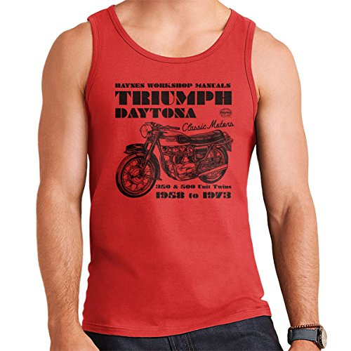 POD66 Haynes Owners Workshop Manual Triumph Daytona 350 500 Men's Vest - Daytona 500 Spiel