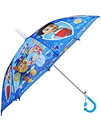 Clasiko Cartoon Print Kids Umbrella; Light Weight; Attractive Design; Durable; Color - Blue; Mix Designs