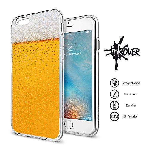 iPhone 6/6S - INKOVER - Custodia Cover Protettiva Soft Case Guscio Protezione Bumper Trasparente Sottile Slim Fit Tpu Gel Gomma Morbida INKOVER Effetto Boccale Bicchiere di Birra Beer Pinta Pub per APPLE iPhone 6 / iPhone 6S