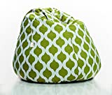 #10: Aart Scroll Design Cotton Canvas Printed Bean Bags With Beans (Xxl)