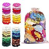 Samt Haargummis 50 Farben FAMINESS Elastische Gummibänder Haarbänder Scrunchies Pferdeschwanz Haarband Haaschmuck für Mädchen Frauen