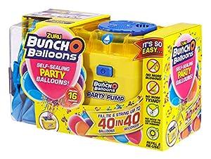 Zuru 56174 Bunch O Balloons Party - Globos (40 Unidades, en 40 Segundos, con Bomba eléctrica, 16 Globos, Manguera y 4 adaptadores, en 3 Colores, no es Posible Elegir)