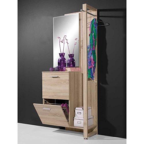 Pharao24 Garderobe in Sonoma Eiche für kleinen Flur