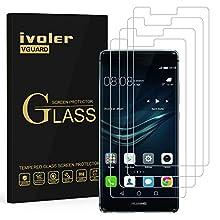 iVoler [4 Pack] Pellicola Vetro Temperato per Huawei P9 Plus [Garanzia a Vita], Pellicola Protettiva, Protezione per Schermo