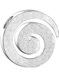 Vinani Damen-Anhänger Spirale gebürstet Sterling Silber 925 ASR-EZ