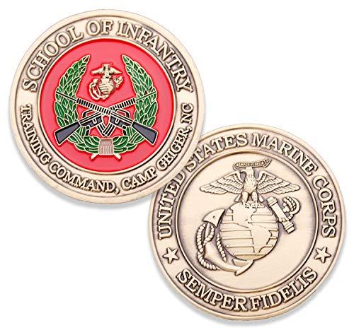 Marine Corps Adler, Globus Und Anker (USMC School of Infantry Camp Geiger Challenge Münze - Marine Corps SOI Militär Münzen - designt von Marines for Marines - Offiziell lizenziert)