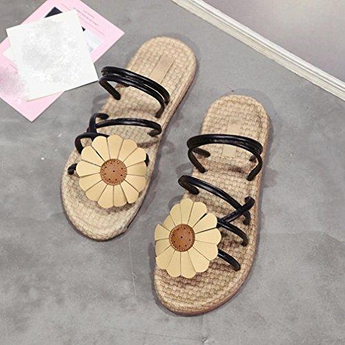 Sneaker Sandali Infradito Piatti Donna Avevano 35 Nero 39 n58TfHYwxq