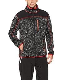 Strick-Jacke Fleece-Jacken für Herren von Fifty Five - St. Johns - mit wasserabweisenden Schulterapplikationen aus Softshell