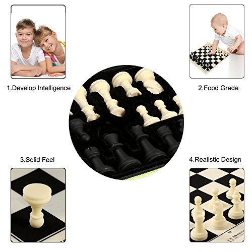 Chess Set Silicone With Chess Pieces   Board Game Mat Portable Outdoor Package Case Box
