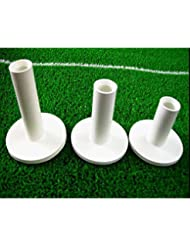 White Color Golf Rubber Tee, 3 Pieces Different Sizes Packed. 75mm,65mm,54mm.