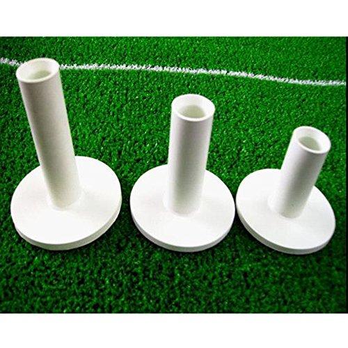 le caoutchouc tees de golf, de couleur blanche, 3 pc emballés (75 mm, 65 mm et 54 mm).Rubber Golf Tees, White Color, 3 PCS Packed(75 mm, 65 mm and 54 mm)