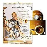BachEntdeckungen 2020 - Kalender im Posterformat mit CD: Johann Sebastian Bach