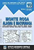 IGC 10, Monte Rosa, Alagna e Macugnaga, Wanderkarte 1:50.000